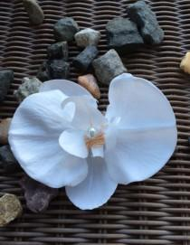 """wedding photo - one piece white silk orchid,4""""x3 2/1""""Real Touch Artificial Phalaenopsis silk orchid , DIY Wedding"""