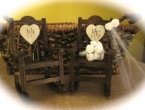 wedding photo - Rustic Wedding Rocking Chair Cake Topper