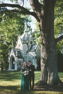 wedding photo - Gothic Architecture Inspired Wedding In a Cemetery
