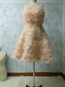 wedding photo - 2017 fashion custom handmade flowers ball gown