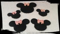 wedding photo - 26 Edible gum paste Minnie Mouse gum paste/fondant cupcake toppers