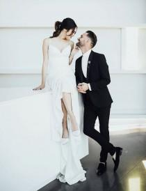 wedding photo - Modern Black + White Rules this Stylish OKC Wedding
