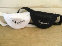 wedding photo - Embroidered Fanny Packs - Money Belts - Bride and Groom - Mr and Mrs - Weddings - Monogrammed