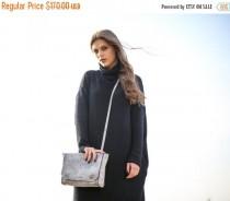 wedding photo - Sale, Mini Shoulder Bag, Mini Crossbody Bag, Small Purse, Small Satchel - Grey Blur