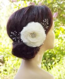 wedding photo - Bridal headpiece, Bridal hair flower, Wedding Hair Accessories, Wedding hair clip, Bridal hair piece,  Floral hair clip, Bridal fascinator