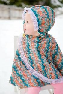 wedding photo - Handmade little Girl hoodie for winter size 1t,2t,3t,4t