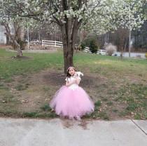 wedding photo - Pink Flower Girl Dress/Pink Tutu Dress/Toddler Tutu Dress/Birthday Tutu Dress/Princess Tutu Dress/Long Tutu Dress/Pink Cute Tutu Dress