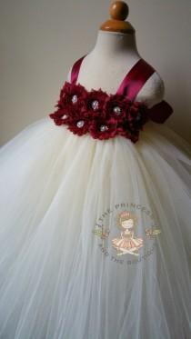 wedding photo - flower girl dress, flower girl dresses, burgundy flower girl dress, ivory flower girl dress, baby dress, girl dress, birthday dress, wedding