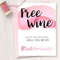 wedding photo - Printable Will You be My Bridesmaid Card - Printable Will You Be My Bridesmaid Invitation - Funny Will You Be My Bridesmaid - Funny Card