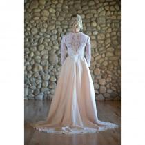 wedding photo - Nora   Wedding Dress //Chiffon Covered Handpainted Silk Ball Gown Skirt//Blush Skirt/Lace Bustier with Lace Tie Back Cover Up - Cheap Beautiful Dresses