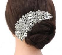 wedding photo - Silver comb, rhineston comb, pearl and rhinestone hair comb, hair comb, wedding comb,