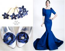 wedding photo - White and blue wedding: the dignity and ...
