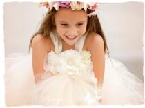 wedding photo - Blush Flower Girl Dress, Blush Tutu Dress, Blush Dress, Blush Wedding, Ivory Wedding, Ivory Flower Girl Dress, Ivory Tutu Dress