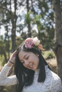 wedding photo - Rose flower crown, floral crown, bridal headpiece, rustic rose flower crown, silk flower crown, hair accessories, wedding hair accessories