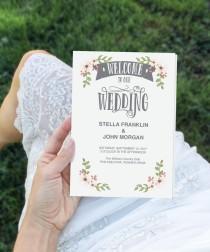 wedding photo - Folded Wedding Program Template - DIY Program - Wedding Program - Easy Editable Wedding Ceremony Program - DIY Program - Instant Download