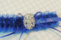 wedding photo - Royal Blue Prom Garters,  Garters