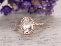 wedding photo - white Topaz engagement ring with diamond ,Solid 14k rose gold,promise ring,bridal,7x9mm oval cut custom made fine jewelry,prong set