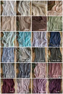 wedding photo - Gauze runner COLOR SWATCHES cheesecloth table Hand dyed gauze Centrepiece rustic Wedding table decor Receptions and Aisle cotton runners