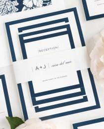 wedding photo - Sophisticated Modern Wedding Invitations - Sample