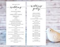 wedding photo - Wedding Program Templates, Ceremony Program Template, DIY Wedding, Wedding Program Printable Template, Editable Program Template, #BT104