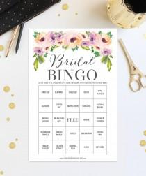 wedding photo - 76 Bridal Shower Bingo Games - Wedding Shower Game - Shower Bingo - Popular Shower Games - Wild Flower Bridal Bingo - Instant Download