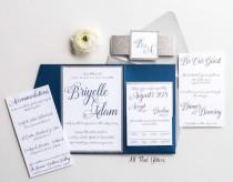 wedding photo - Glitter Wedding Invitations