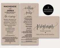 wedding photo - Ceremony Programs, Ceremony Program Template, Wedding Programs, Printable Wedding Programs, In Loving Memory, In Memory, Program PDF, WSET5