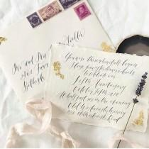 wedding photo - 5x7 IVORY 275gsm Handmade Cotton Paper  and Envelopes Blank Letterpress Paper Wedding Invitation Paper