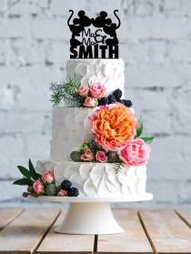 wedding photo - Disney wedding cake topper- Silhouette Cake Topper- Mickey & Minnie Cake Topper- Cake Topper- Personalized Cake topper- Wedding topper