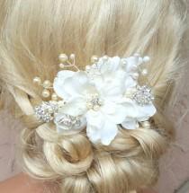 wedding photo - Wedding  Hair Comb, Wedding Hair Accessories, Bridal Hair Comb, Pearl Hair Comb, Crystal Hair Comb, Bridal Hair Accessories, Floral Comb