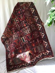 wedding photo - Armenian rug, unique colorful rich handmade vintage wool 5x7ft