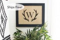 wedding photo - Deer Antler Monogram