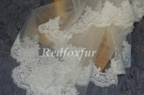 wedding photo - 5m Long lace bridal veil, wedding veil,