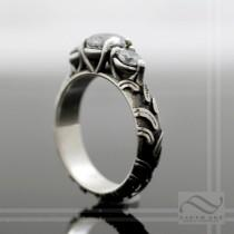 wedding photo - Ladies Engagement Outlaw ATV Tire Tread Ring- Sterling Silver