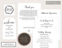 wedding photo - Printable Wedding Welcome Bag Note, Welcome letter, Welcome Tag, Template Kit, Instant Download, Editable PDF, GD_WT102