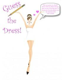 wedding photo - Guess The Bride's Dress! (Brunette Updo) -Printable Design