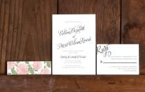 wedding photo - Calligraphy Love Wedding Invitation,Modern Calligraphy Wedding Invites,Cottage Chic Calligraphy Wedding Invitations,Rustic Calligraphy