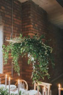 wedding photo - Minimalist Wedding Shoot With Lots Of Greenery - Weddingomania