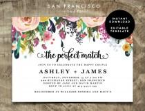 wedding photo - Couples Shower Invitation - INSTANT DOWNLOAD