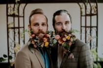 wedding photo - Wes Anderson-Inspired Wedding Featuring Dapper Gents and Fancy Fantasy Beards