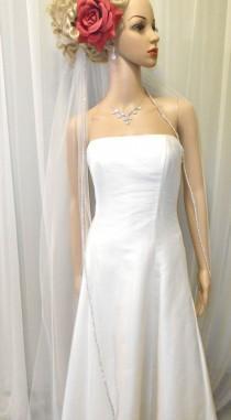 wedding photo - WALTZ Length, Sparkle Edge Veil, 1-Tier, Very Beautiful, WELL MADE