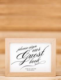 wedding photo - Printable Wedding Guest Book Sign
