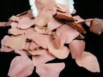 wedding photo - 200 Vintage Inspired Rose Mauve Bulk Petals, Artificial Rose Petals, Wedding Decoration, Flower Girl Toss  Petals Table Scatter