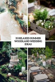 wedding photo - 35 Relaxed Summer Woodland Wedding Ideas - Weddingomania