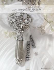 wedding photo - Swarovski Crystal  Bouquet Holder, Brooch Bouquet ,