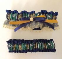 wedding photo - Wedding Garter Notre Dame Inspired College Team Theme