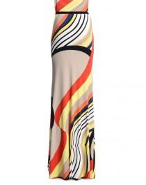 wedding photo - Emilio Pucci Onyx Print Maxi Dress Beige & Coral