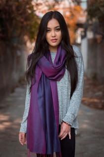 wedding photo - Spring Pashmina Shawl with Silk Blend-Nepal
