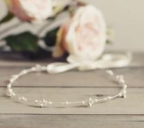 wedding photo - Bridal headpiece, simple bridal headband, hair vine, Swarovski crystal bride bridesmaid accessories, wedding hair accessories, halo, wreath