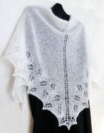 wedding photo - Snow White Lace Shawl. Wedding Shawl, Winter Wedding, Women Knit Shawl. Made To Order. Hand Knitted Shawl. Bridal Lace Shawl Wrap. Openwork